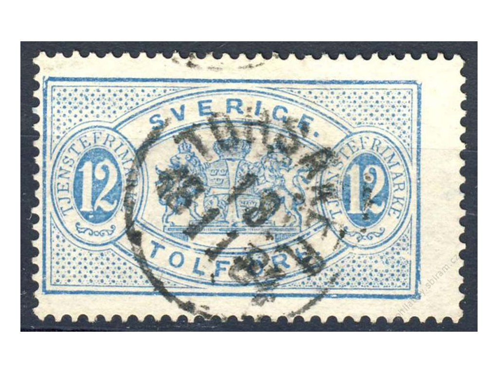 1874, 12Öre služební, MiNr.6B, razítkované