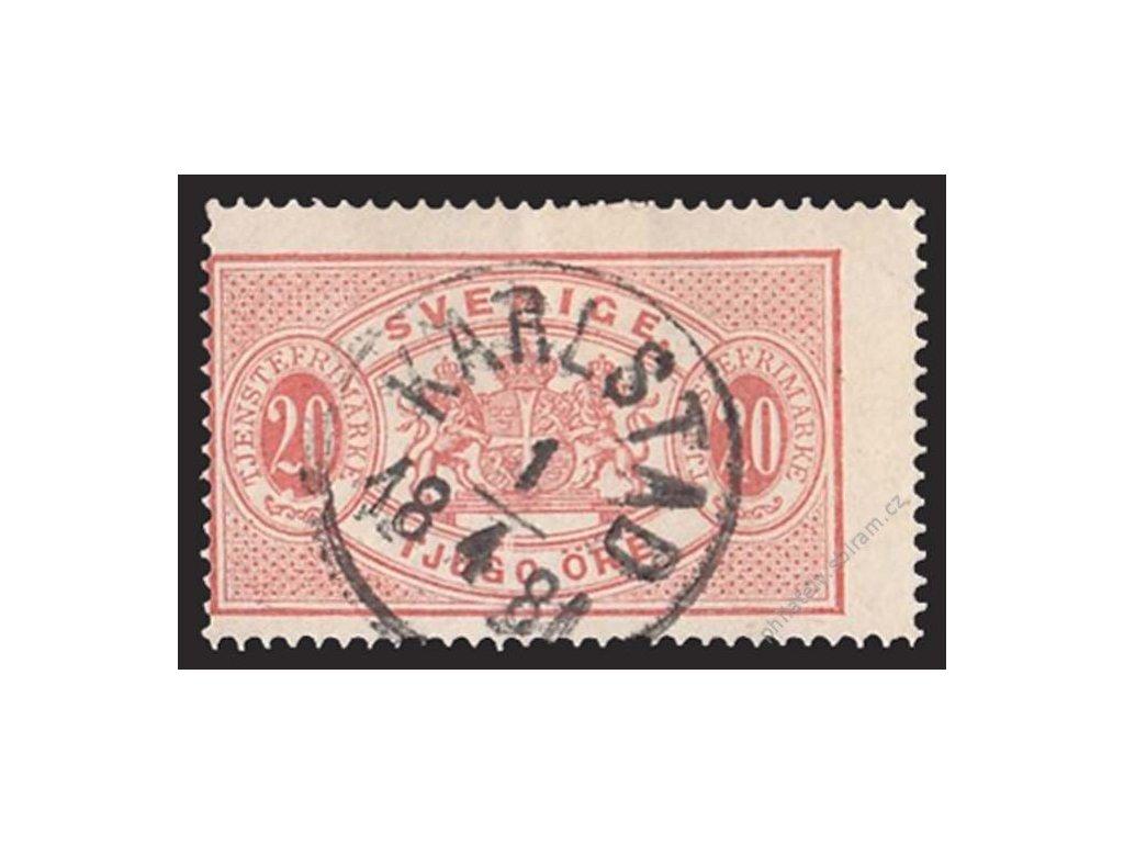 1874, 20Ö služební, MiNr.7A, razítkované