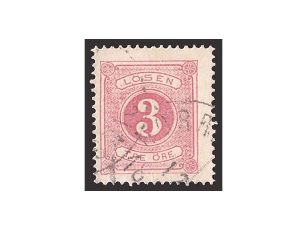 1874, 3Ö doplatní, MiNr.2A, razítkované, dv