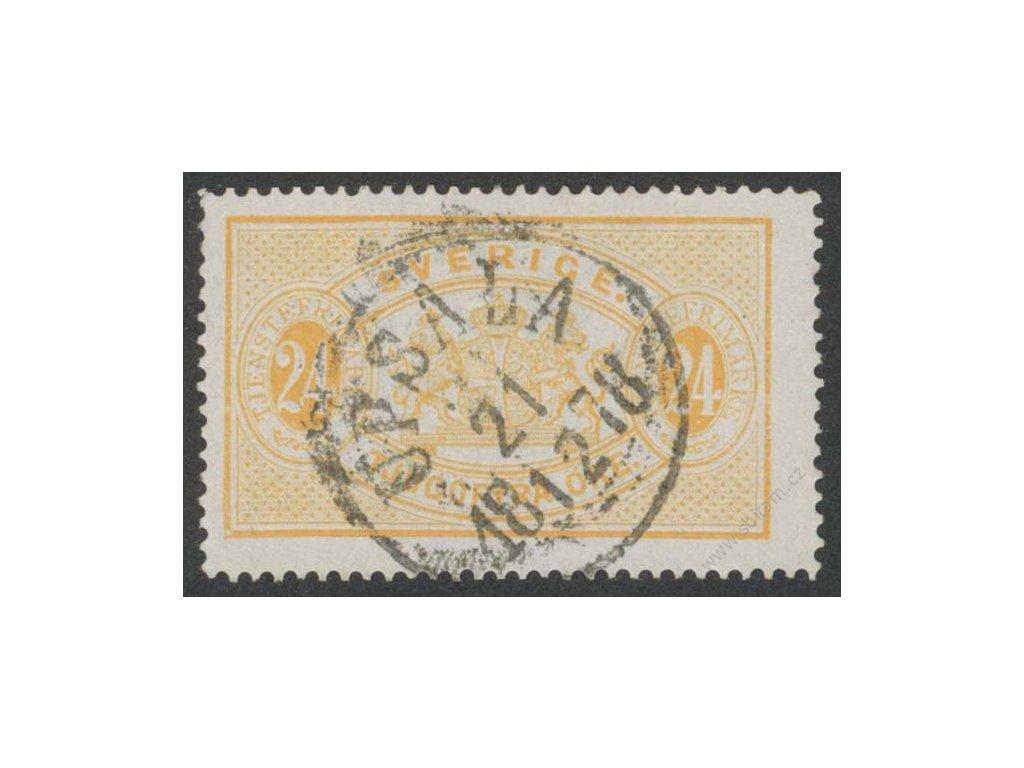 1874, 24Ö služební, MiNr.8A, razítkované