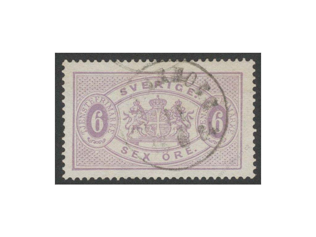 1874, 6Ö služební, MiNr.4A, razítkované