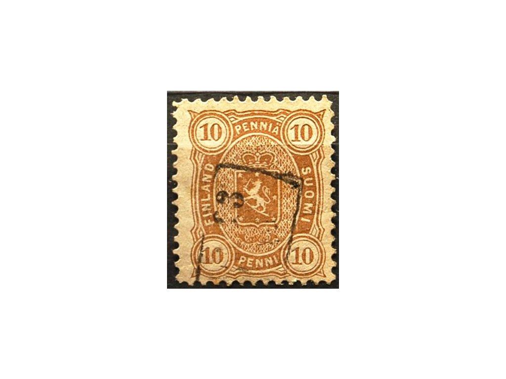1875, 10P Znak, zvrásnění papíru, MiNr.15B