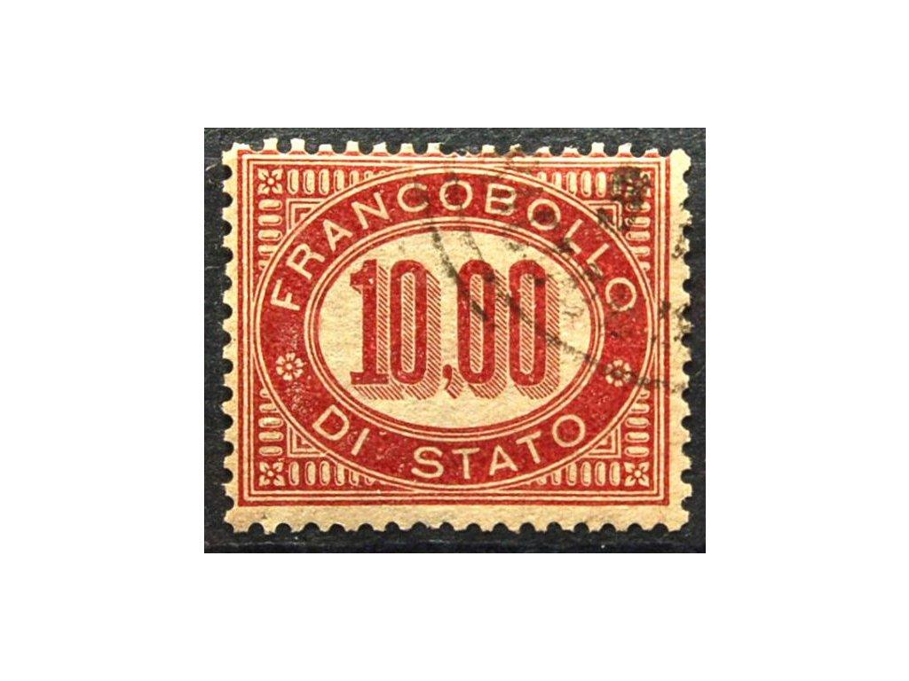 1875, 10L služební, krátký zoubek, MiNr.8