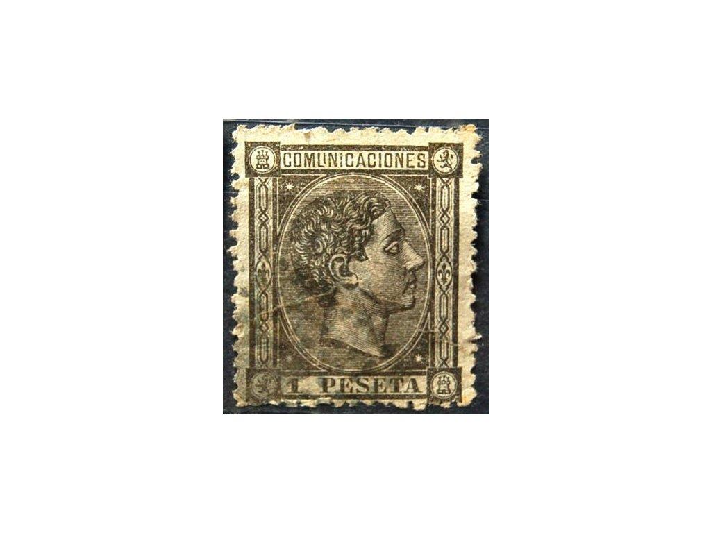 1875, 1Pta Alfons, špatná jakost, razítkovaná