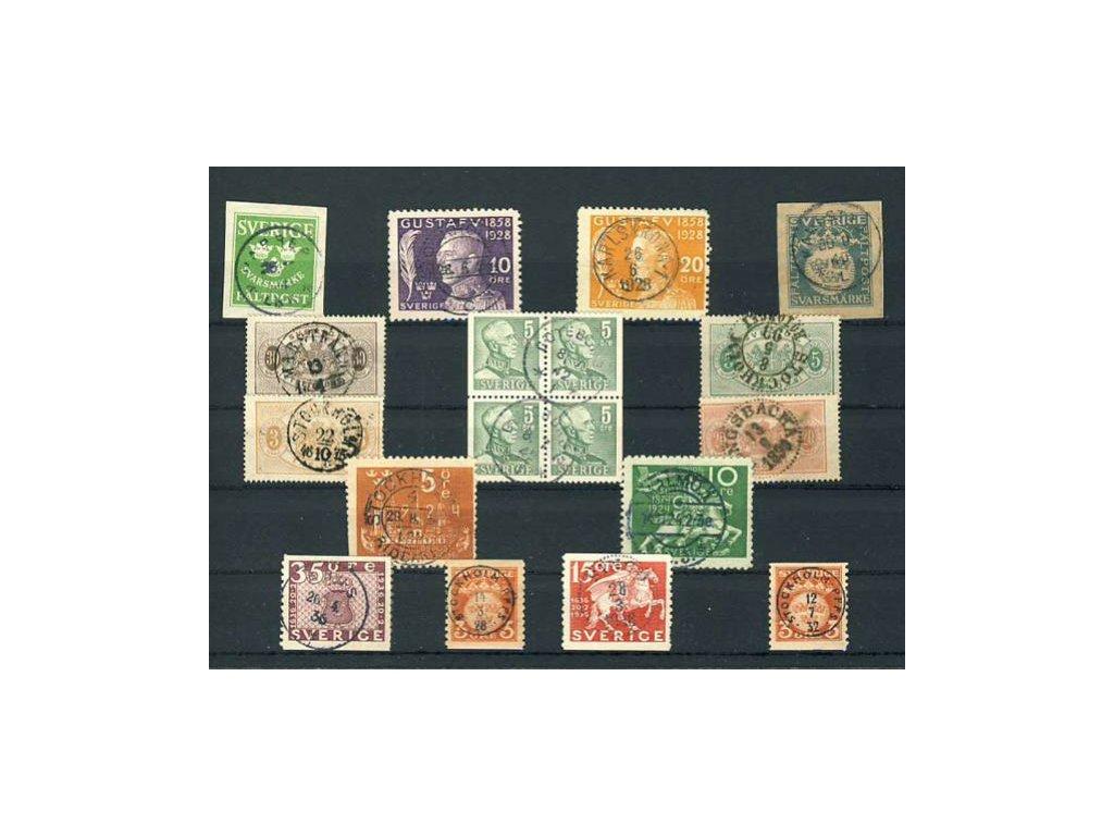 1875/1946, 15 ks známek až 4bloků s razítky