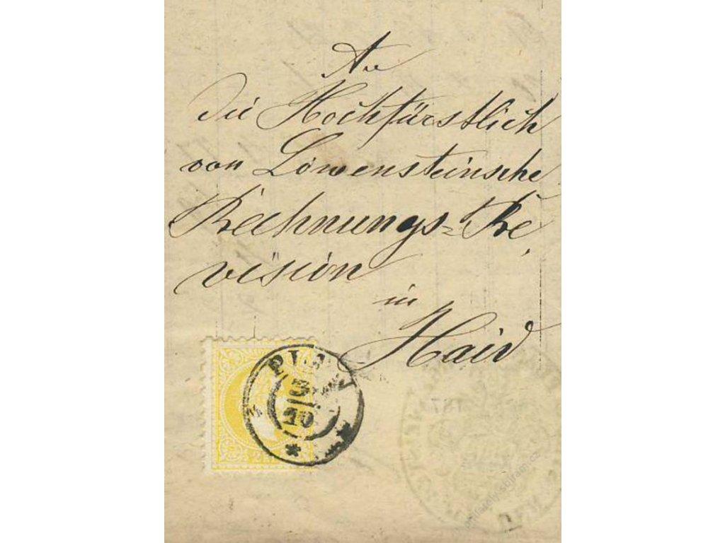 1875, DR Plan, skládaný úřední tiskopis, malý formát