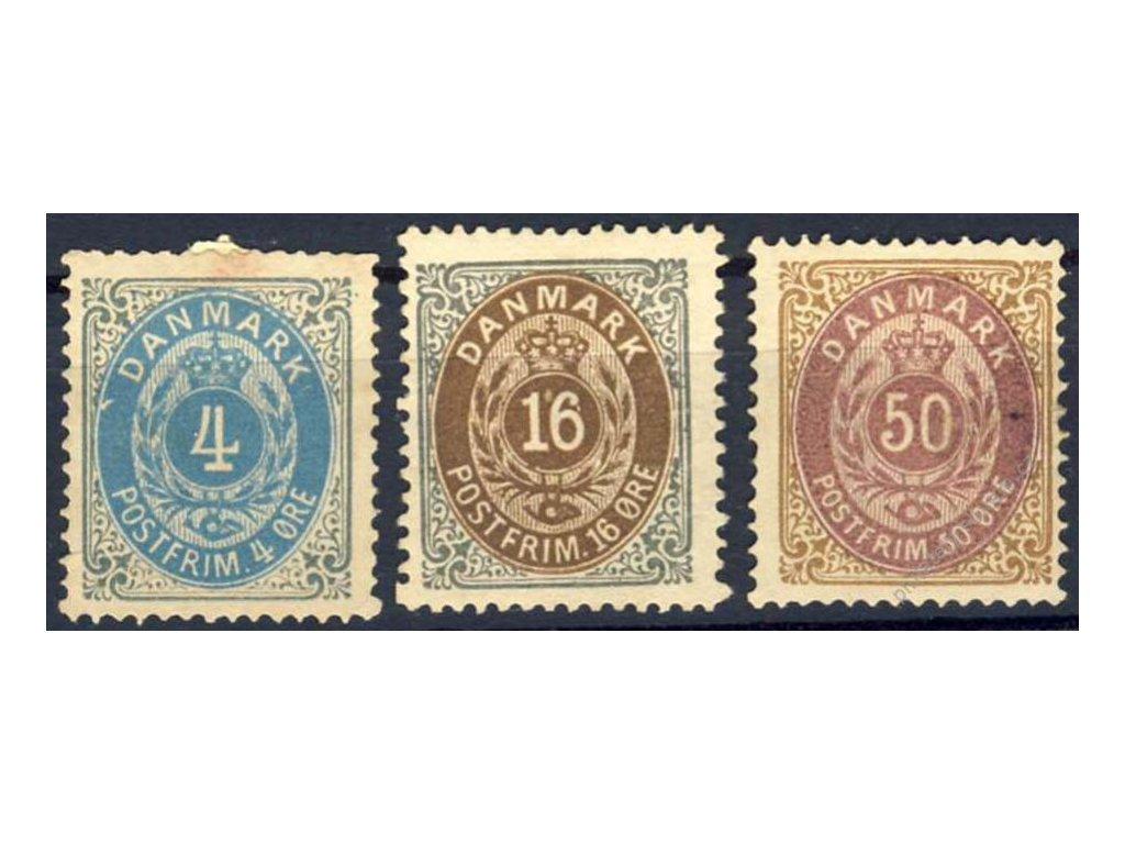1875, 4, 16 a 50Q MiNr.23,27,30, (*)