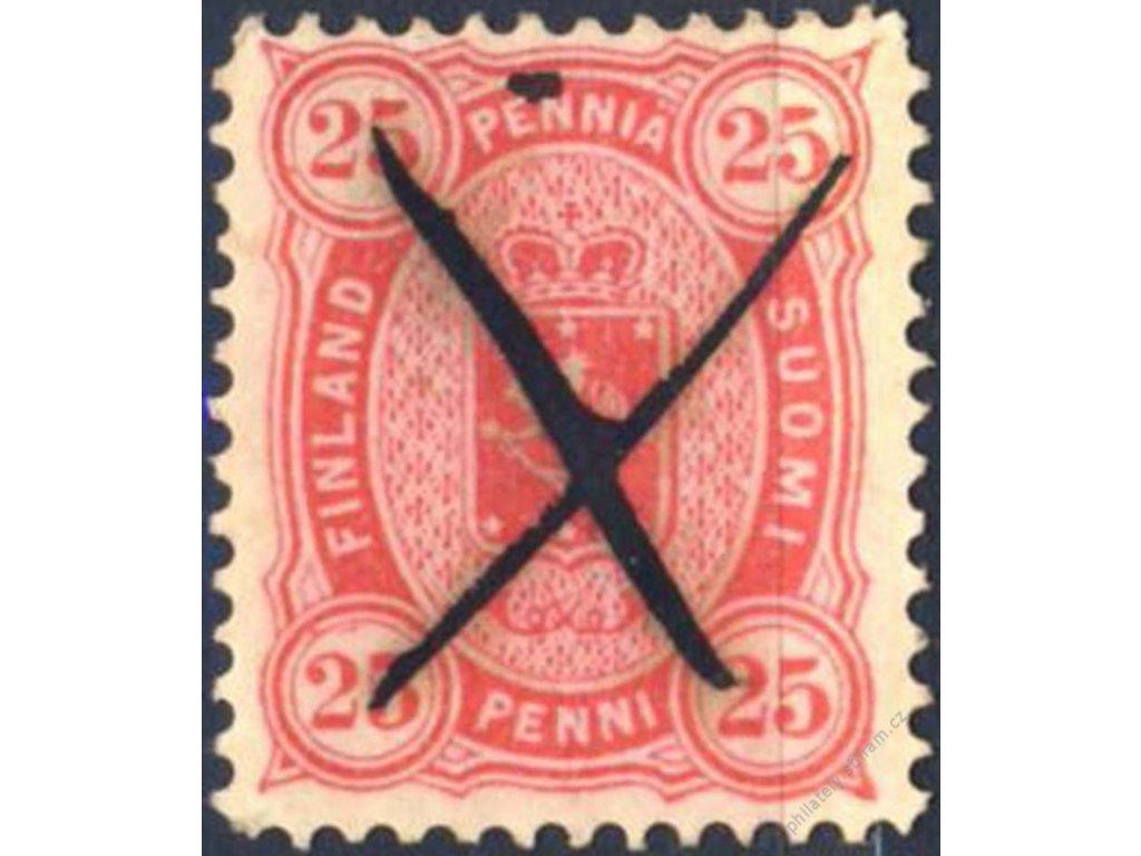 1875, 25P Znak, MiNr.17B, škrt
