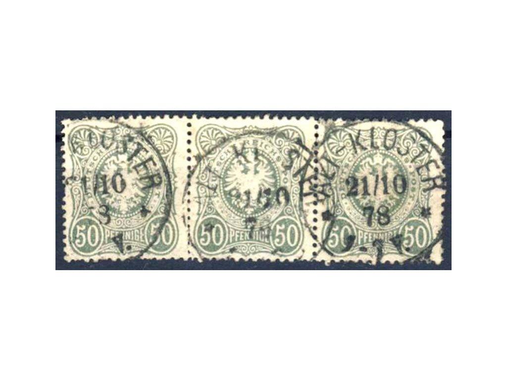 1875, 50Pf(e) zelenošedá, 3páska, razítkované