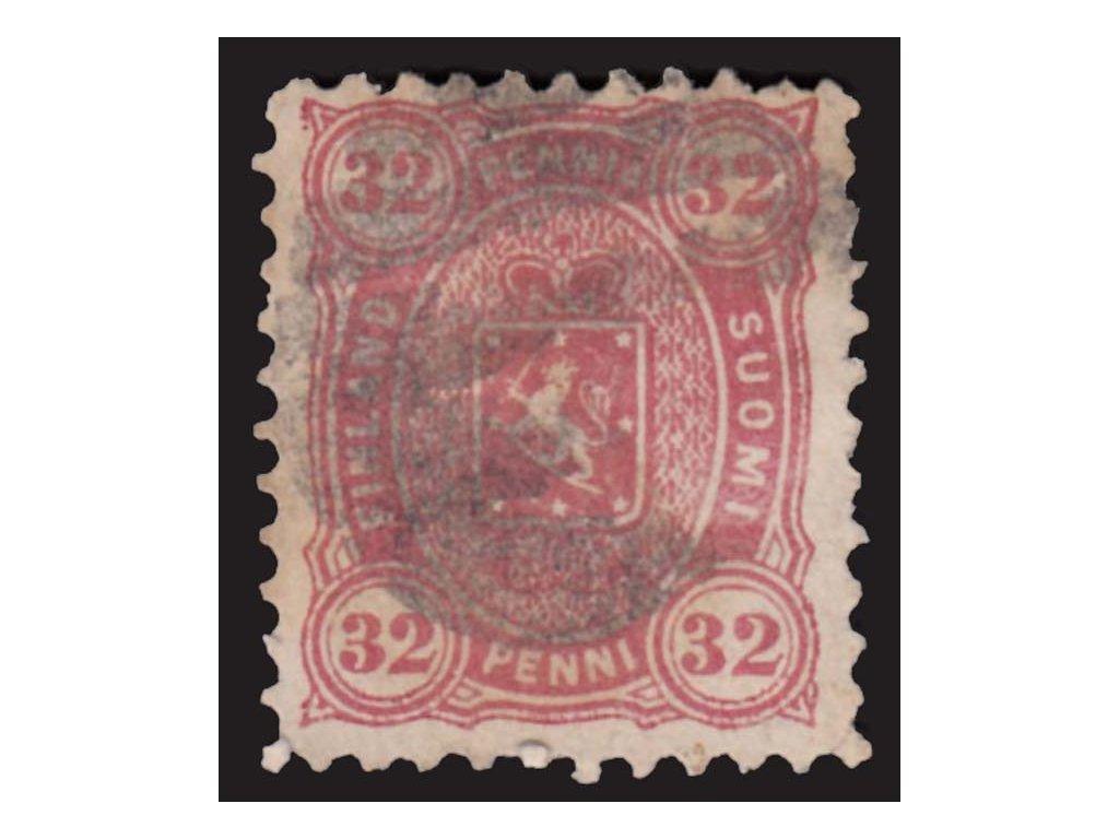 1875, 32P Znak, MiNr.18A, razítkované, drobné vlomy