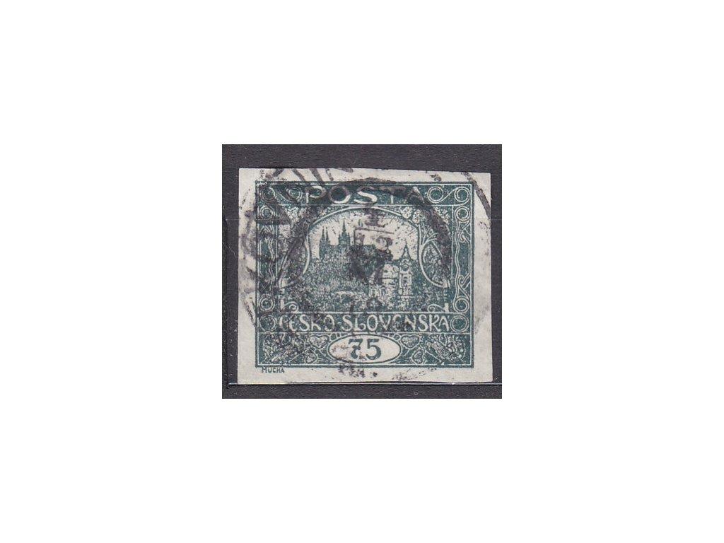 75h šedozelená, I.typ spirály, Nr.18, razítkované