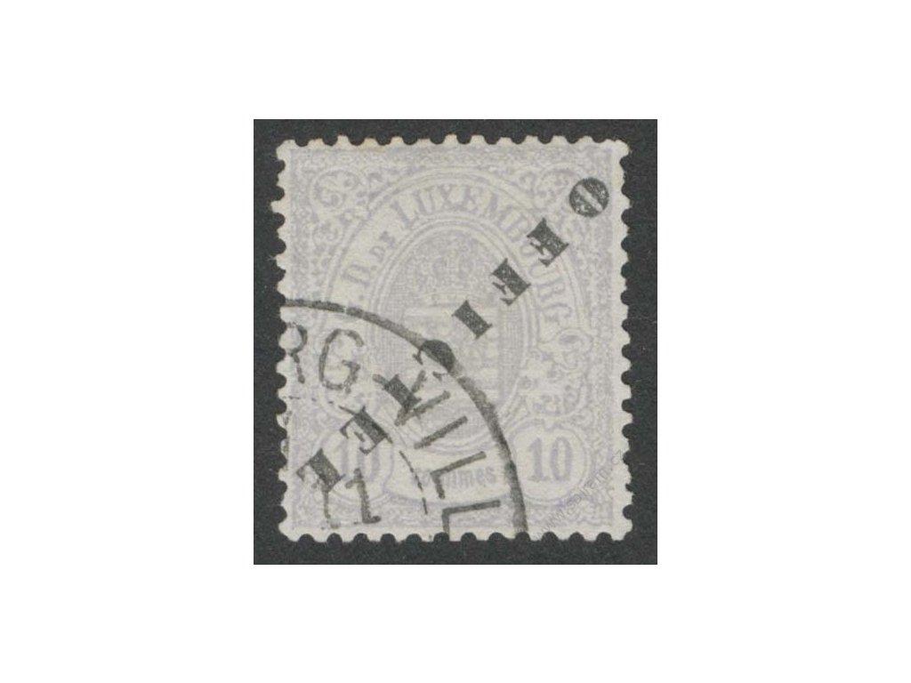 1875, 10C služební, převrácený přetisk, razítkované