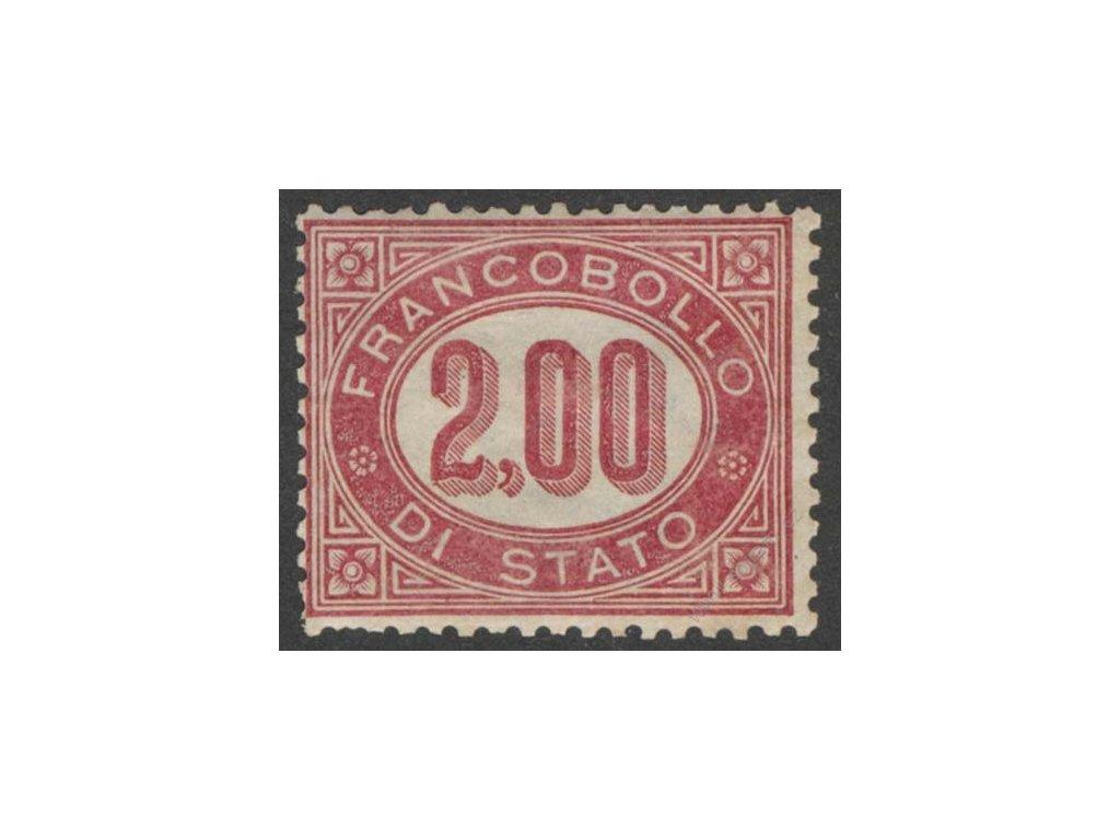 1875, 2L služební, MiNr.6, * po nálepce