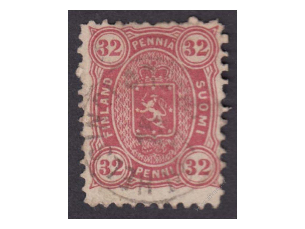 1875, 32P Znak, MiNr.18A, razítkované, nepatrně zeslabeno