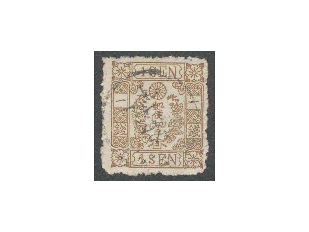 Japonsko, 1875, 1 S Znak, MiNr.29, razítkované
