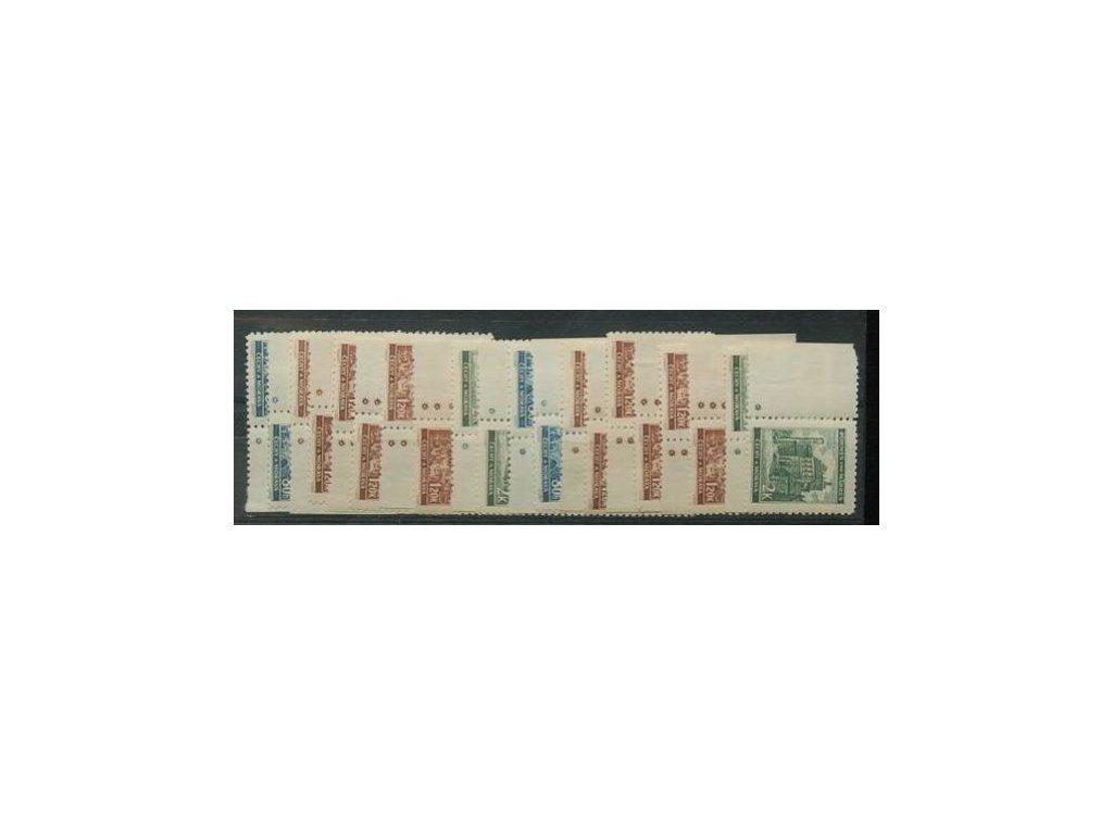 1940, 80h, 1.20K a 2K Krajinky, okraje, DZ