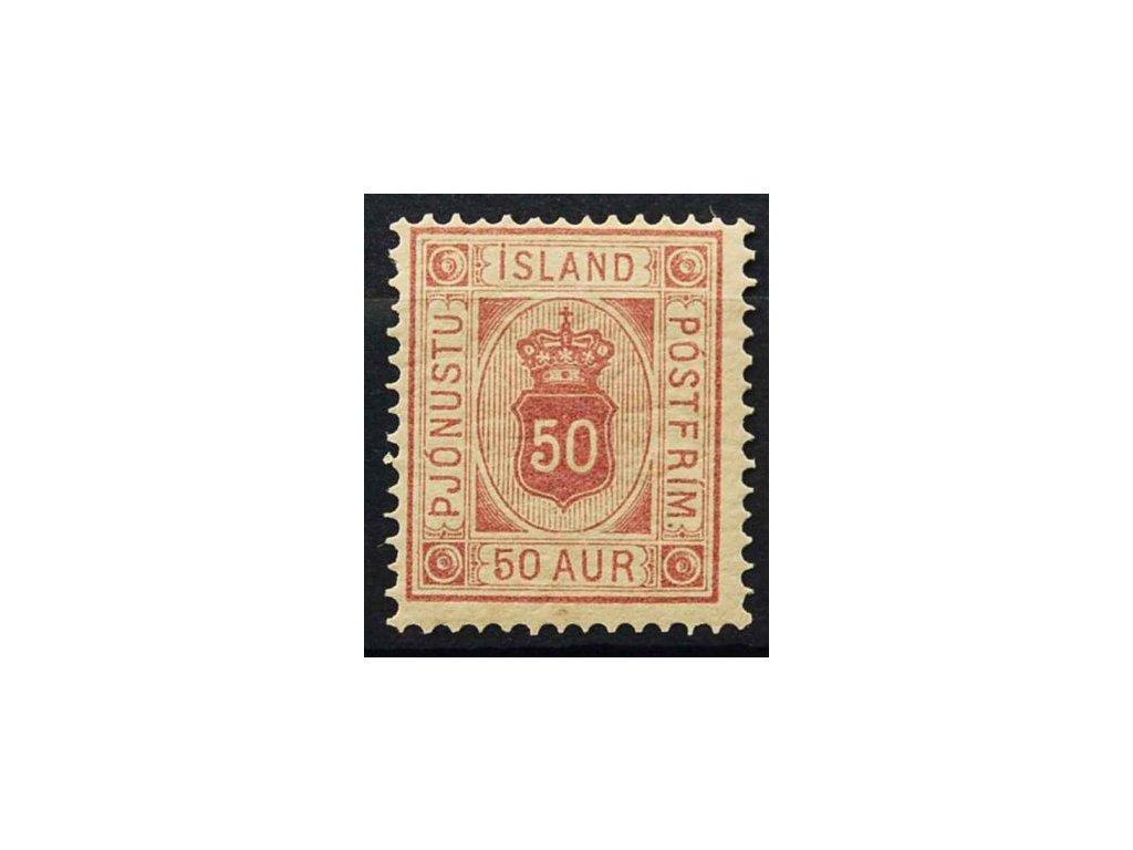 1876, 50A služební, MiNr.8, * po nálepce