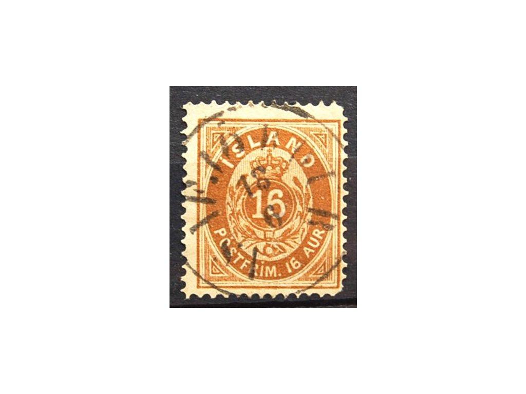 1876, 16A hnědá, MiNr.9A, razítkované