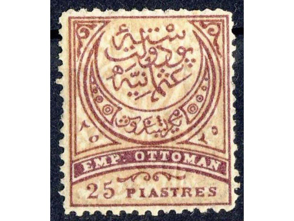 1876, 25Pia Znak, MiNr.35, * po nálepce