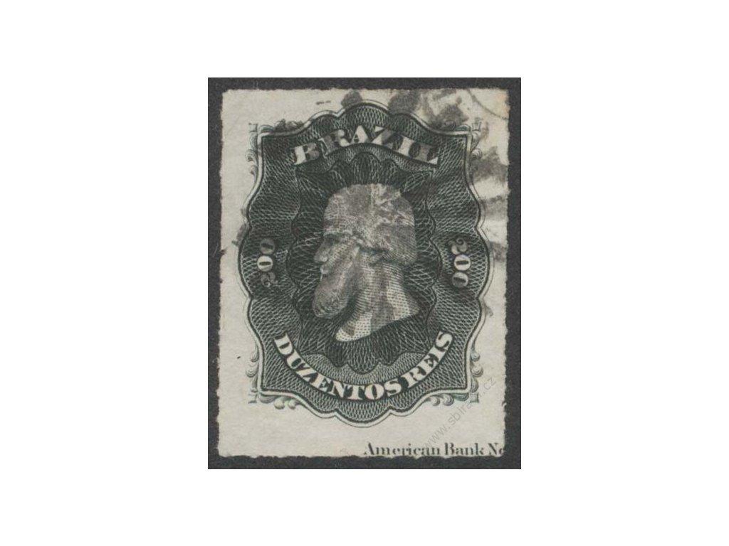 Brasílie, 1876, 200R Pedro, MiNr.35, razítkované