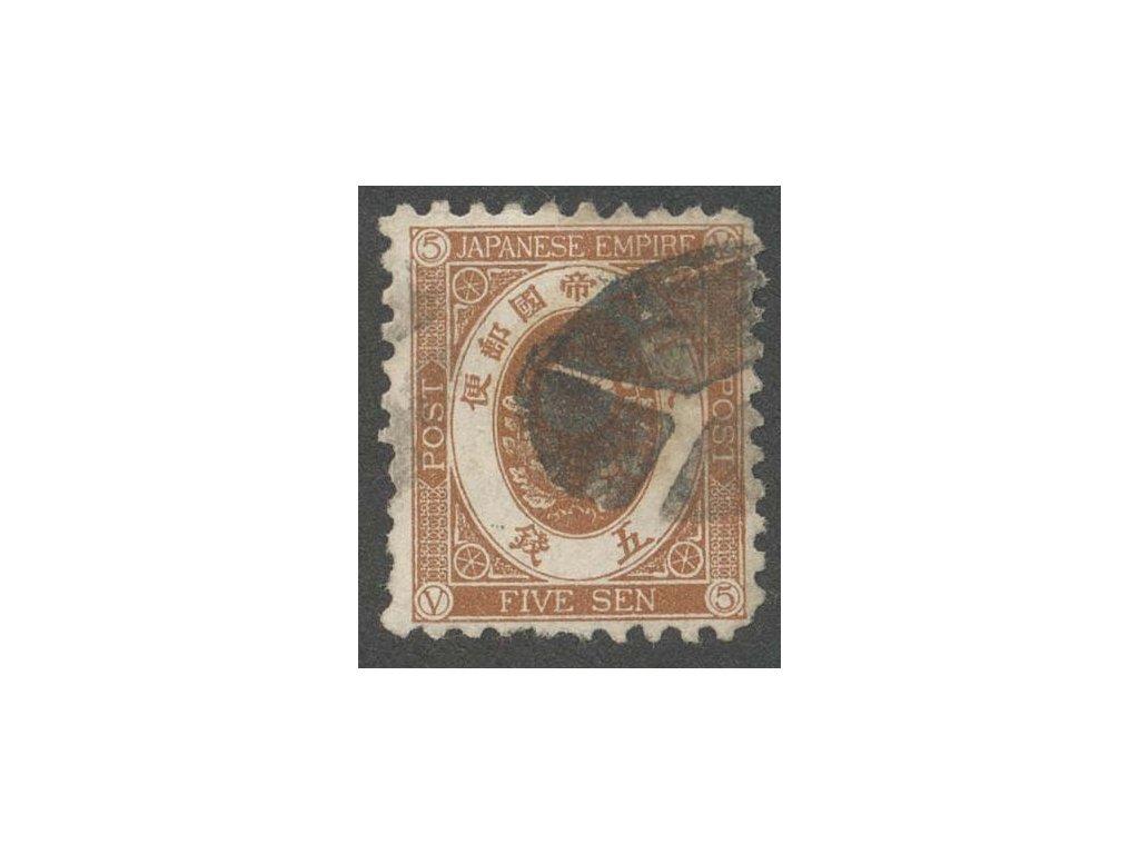 Japonsko, 1876, 5 S Znak, MiNr.44, razítkovaná