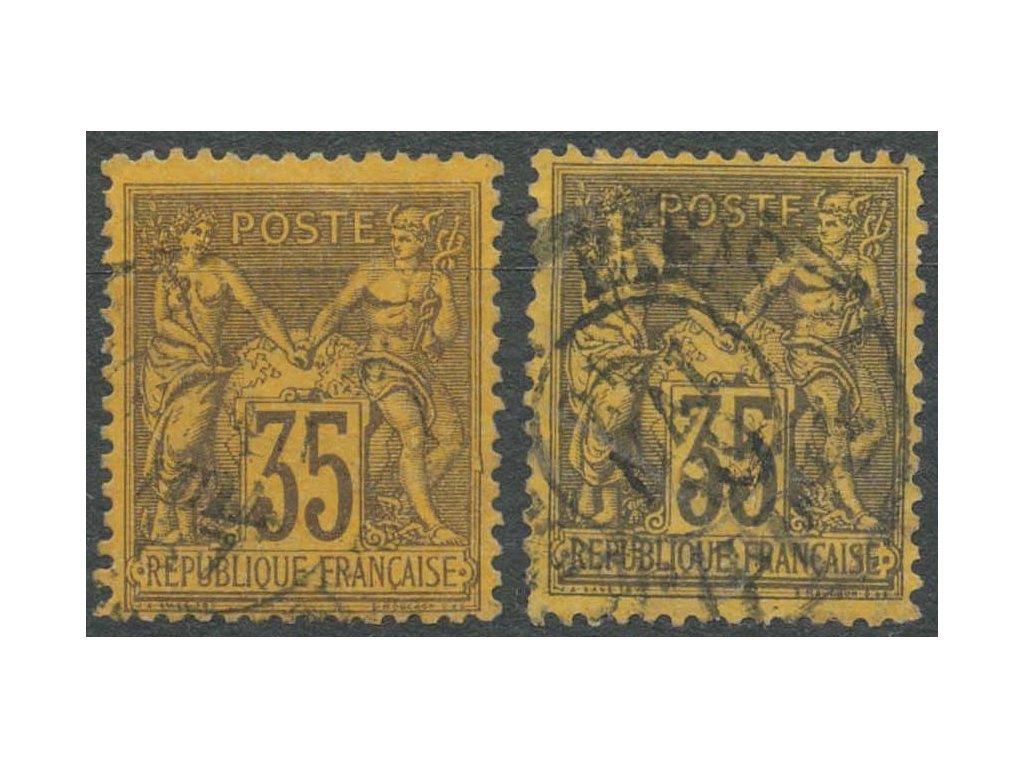 1877, 35C Alegorie, odstíny, různá jakost, razítkované