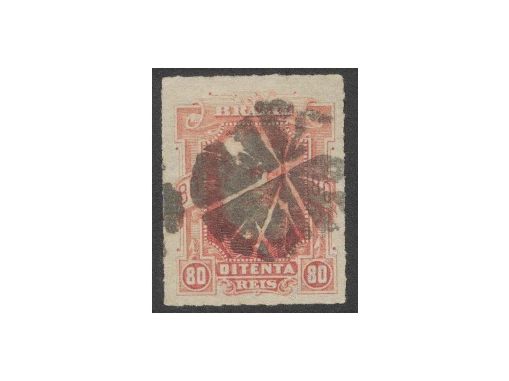Brasílie, 1877, 80R Pedro, MiNr.41, razítkované