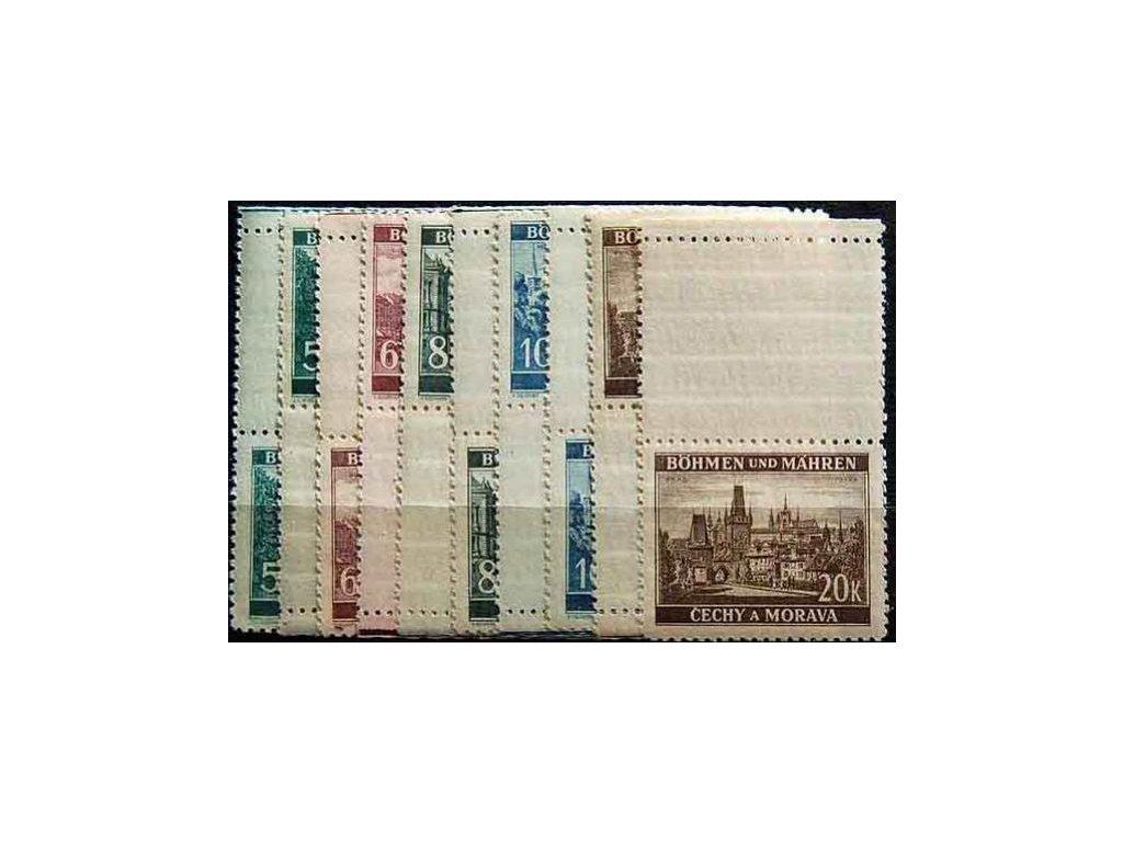1940, 5-20K Krajinky, horní a dolní kupony, Nr.45-9, **