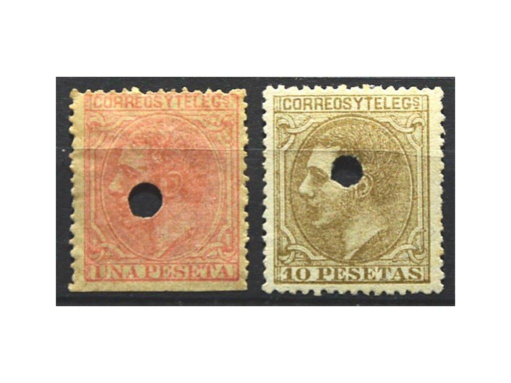 1879, 4 a 10Pta Alfons, různá jakost, (*)