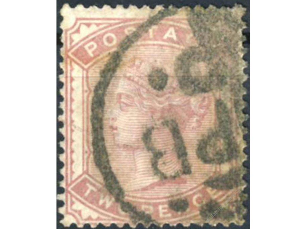 1880, 2P Viktoria, Mi.60Euro, MiNr.58, razítko
