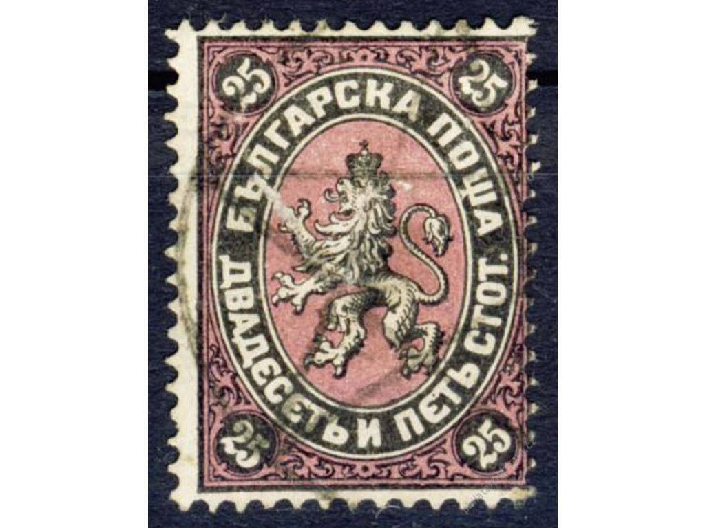 1881, 25St Znak, Mi.100Euro, MiNr.10, razítkované