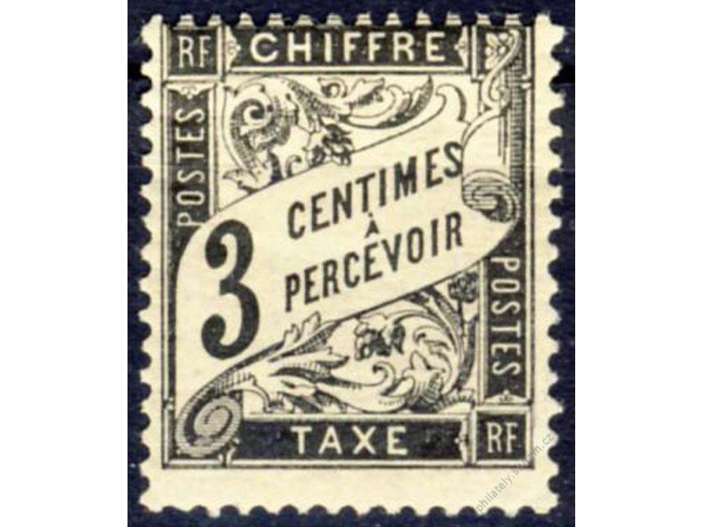1881, 3C doplatní, MiNr.12, těžší *