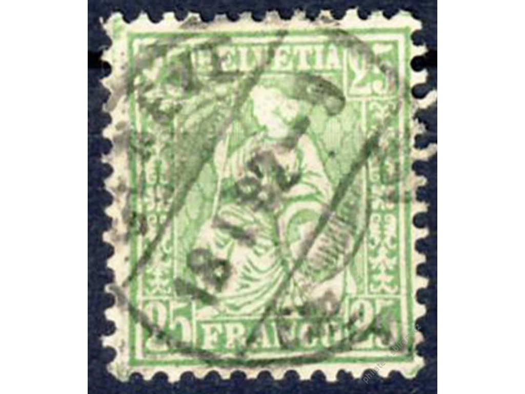 1881, 25C Helvetia, Mi.100Euro, MiNr.41, razítko