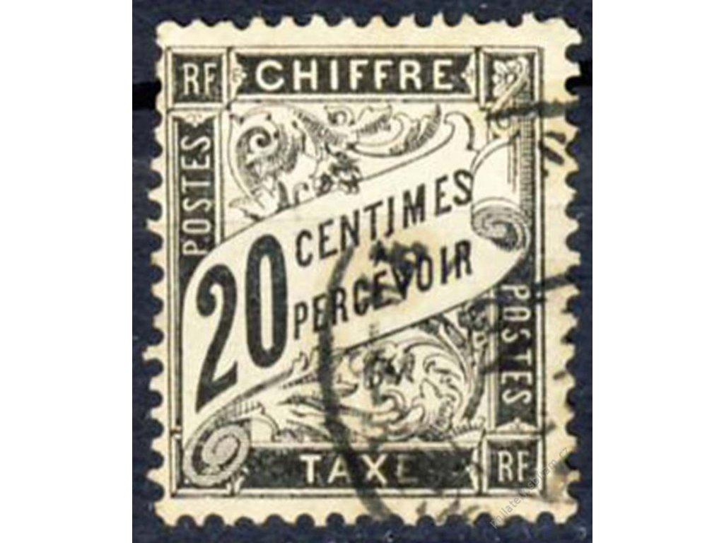 1881, 20C doplatní, Mi.110Euro, Nr.17, razítkované