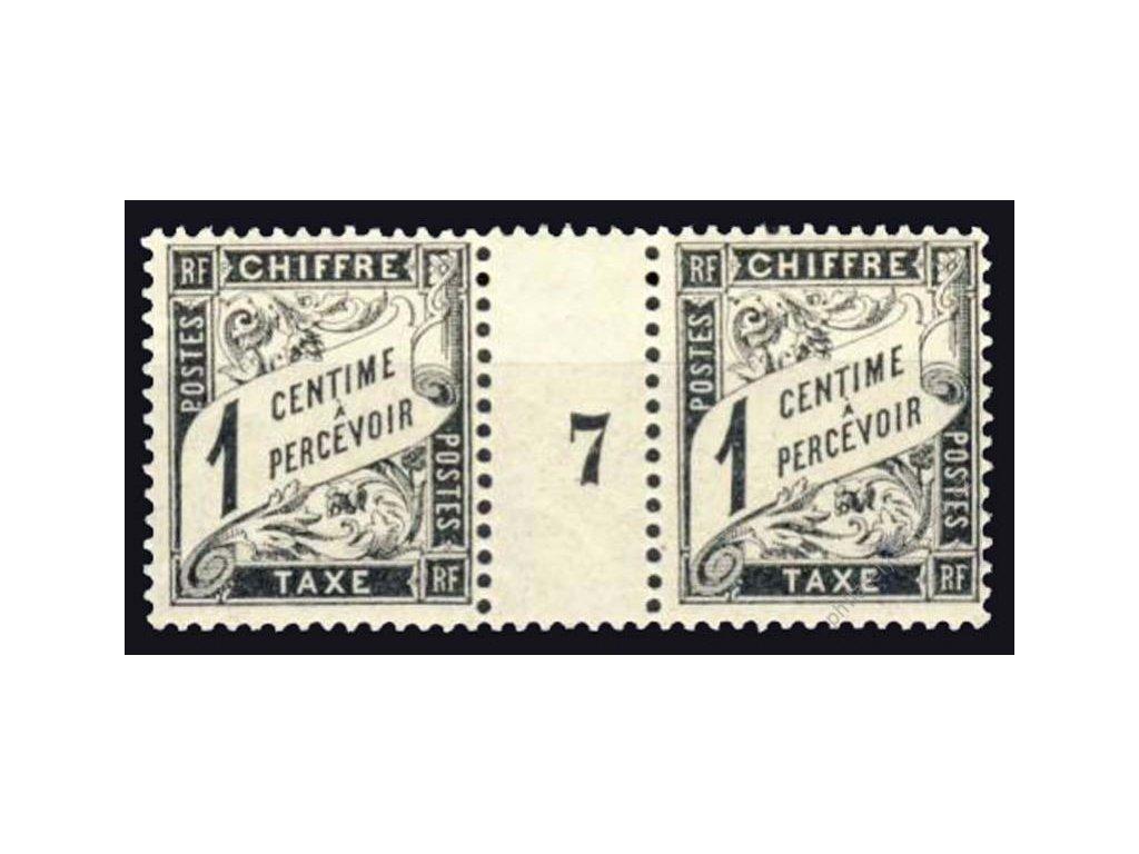 1881, 1C doplatní, meziarší, MiNr.10, **/*