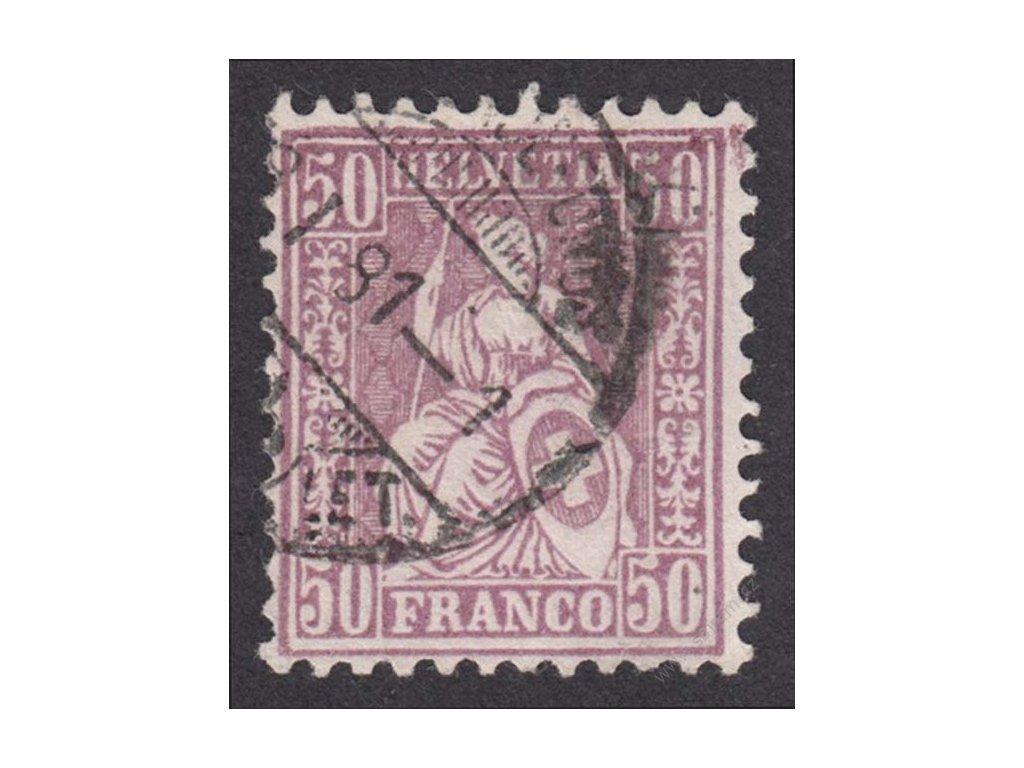 1881, 50C Helvetia, MiNr.35, razítkované