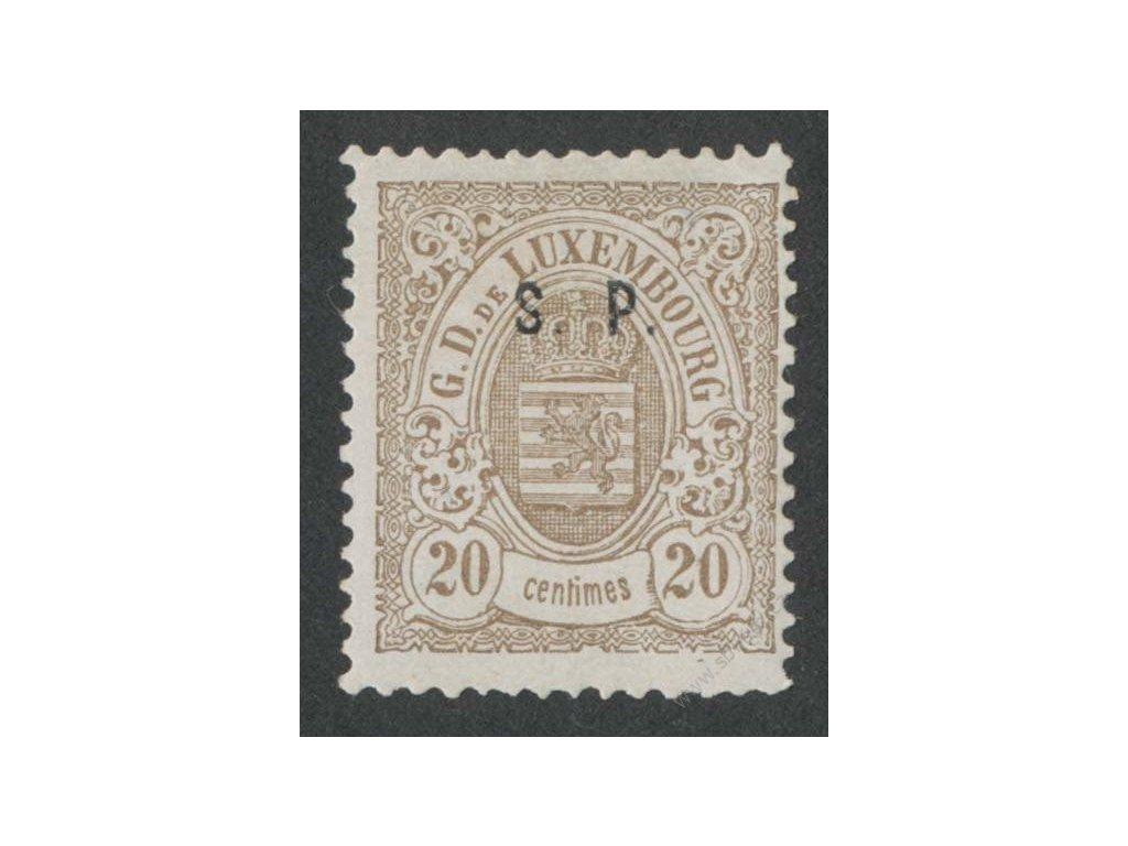 1881, 20C služební, MiNr.32, * po nálepce, dv