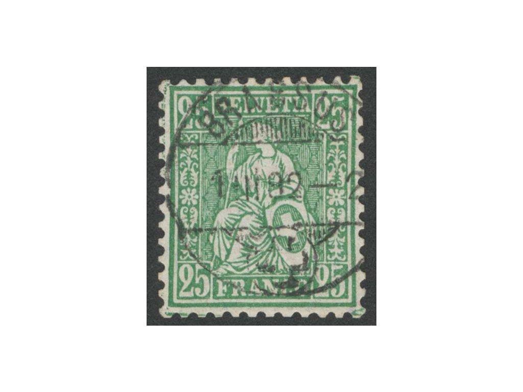 1881, 25C Helvetia, MiNr.41, razítkované