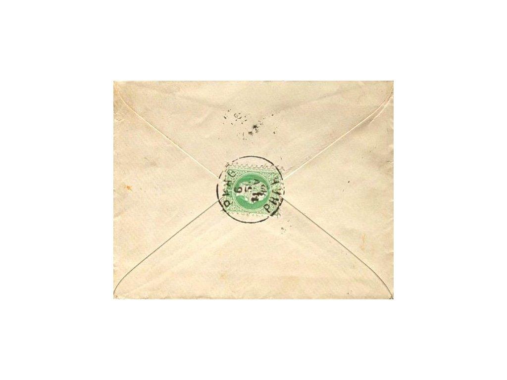 1882, Prag, dopis vyfr. na rubu zn. 3Kr,