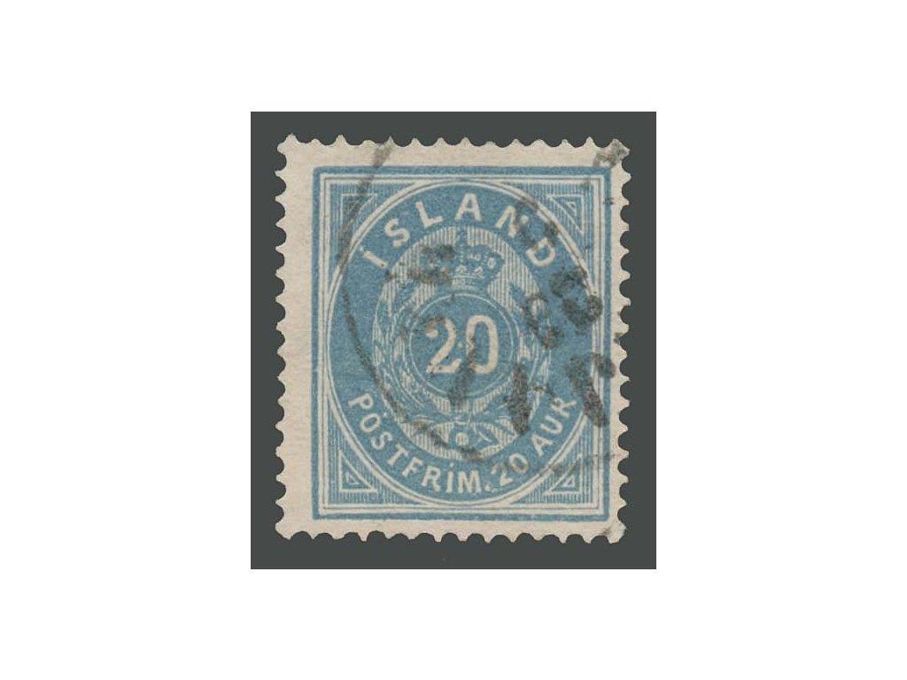 1882, 20A modrá, MiNr.14, razítkované