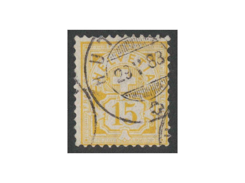 1882, 15C Znak, razítkované, drobné vlomy