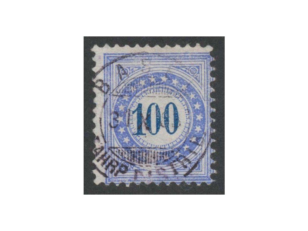 1882, 100C doplatní, razítkované, tenký papír, hedvábný
