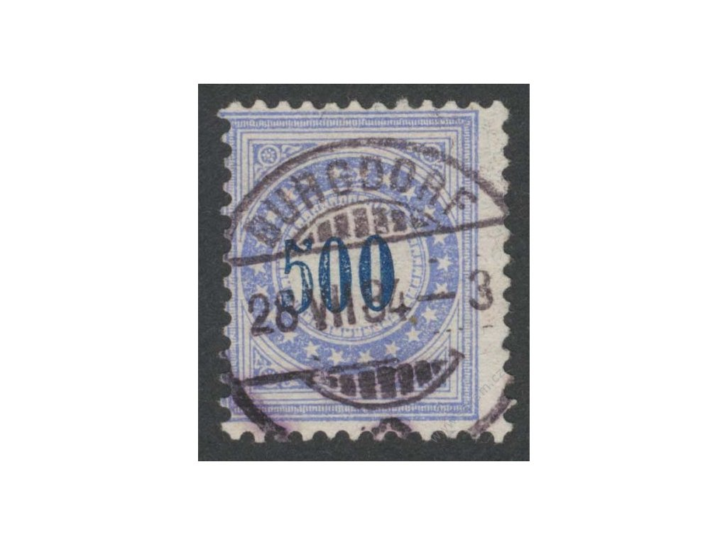 1882, 500C doplatní, Mi.220Eur, razítkované