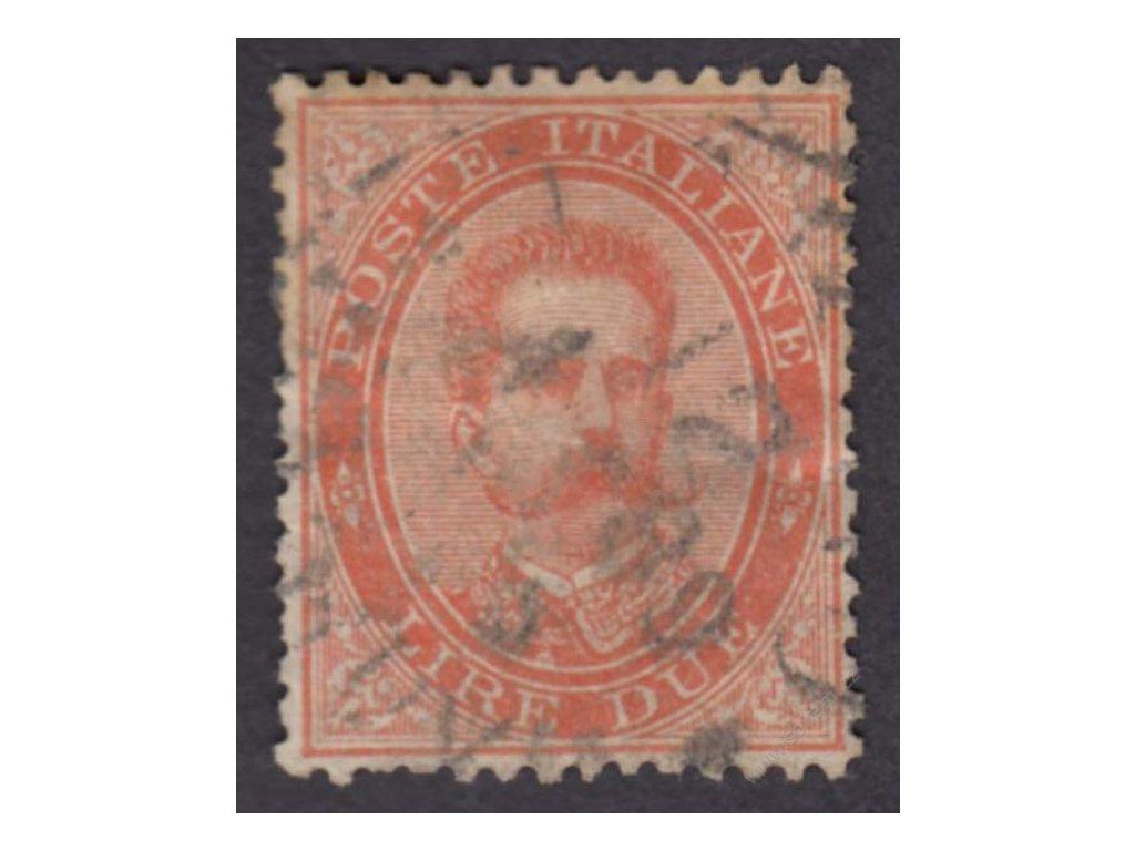 1882, 2L Umberto, MiNr.49, razítkované, horší jakost