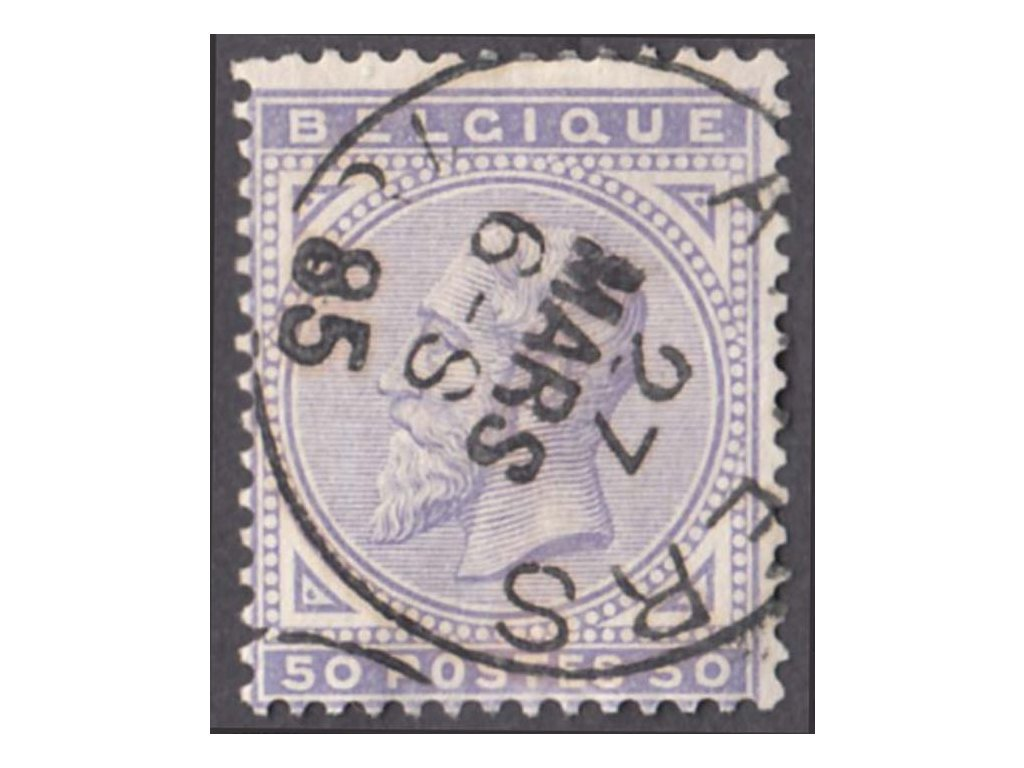 1883, 50C Leopold, MiNr.38, razítkované