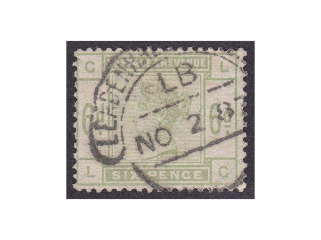 1883, 6P Viktoria, MiNr.79, razítko, vodorovný fald