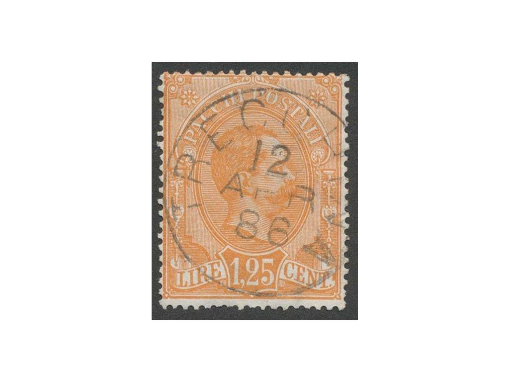 1884, 1.25L Paketmarken, MiNr.5, razítkované