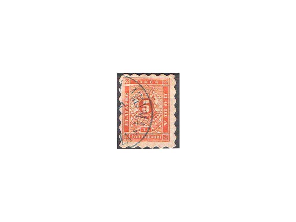 1884, 5St oranžová, doplatní, razítkovaná