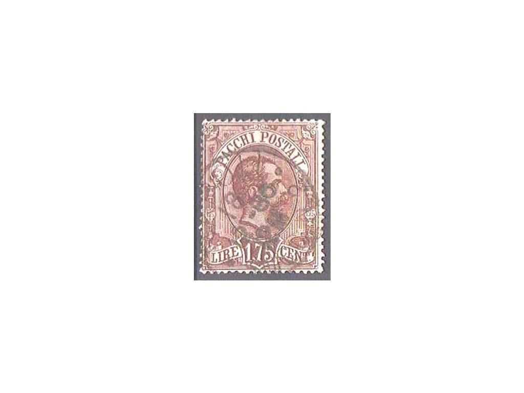 1884, 1.75L Paketmarken, razítkovaná