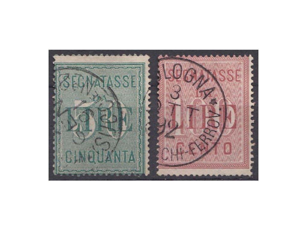 1884, 50-100L Verrechnungsmarken, MiNr.2-3, razítkované